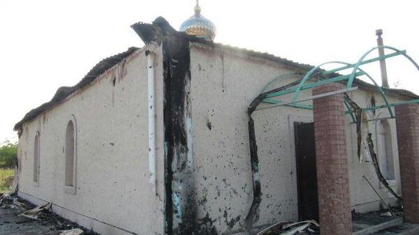 Последствия обстрела Спиридоновского храма села Коминтерново