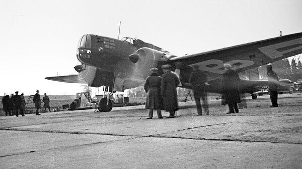Дальний бомбардировщик ДБ-3. Архивное фото