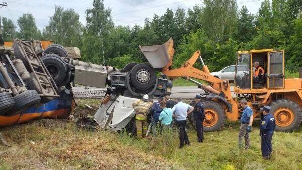 ДТП на автодороге Обоянь-Суджа Беловского района Курской области. 8 июля 2019