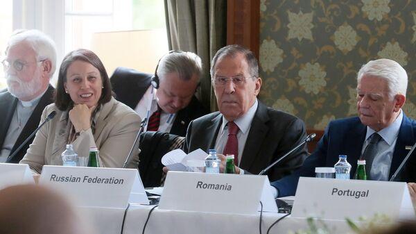 Министр иностранных дел РФ Сергей Лавров принимает участие в неформальной встрече глав МИД стран-участниц ОБСЕ  в словацких Высоких Татрах. 9 июля 2019