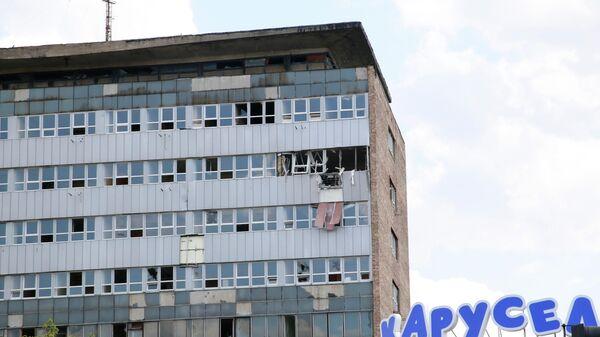 Взрыв в неэксплуатируемом здании в центре Луганска. 10 июля 2019