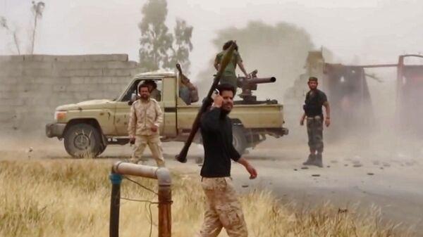 Бойцы Ливийской национальной армии (LNA) маршала Халифы Хафтара