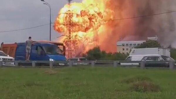 Крупный пожар на ТЭЦ в Мытищах. Съемка очевидцев