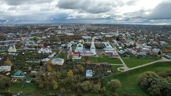 Вид города Коломна Московской области