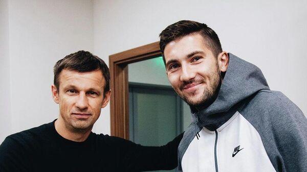 Сергей Семак и Алексей Сутормин (справа)