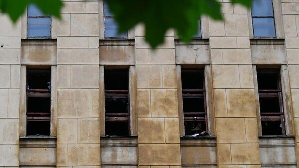 Здание Российского государственного архива литературы и искусства, где произошел пожар. 12 июля 2019