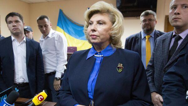 Уполномоченный по правам человека РФ Татьяна Москалькова в зале заседаний Подольского суда в Киеве