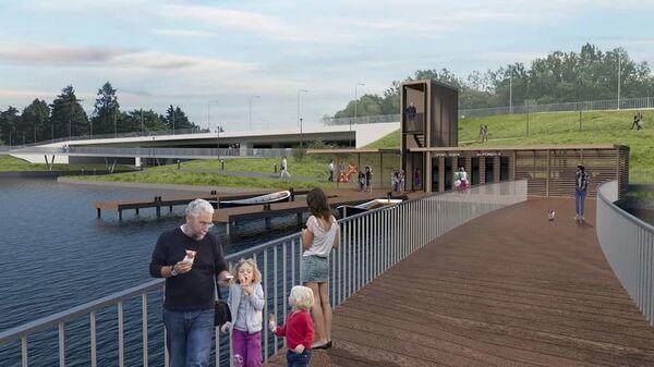 Проект набережной в парке Победы в Зеленограде