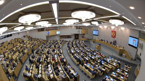 Депутаты на пленарном заседании Государственной Думы РФ.  17 июля 2019