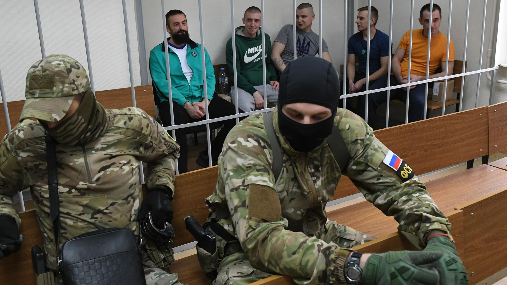 Задержанные украинские моряки на заседании Лефортовского суда города Москвы - РИА Новости, 1920, 25.11.2020