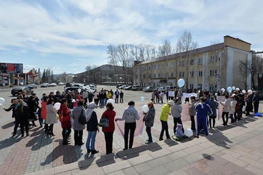 Пикет в поддержку Анатолия Демчука и Алексея Каташева в Горно-Алтайске