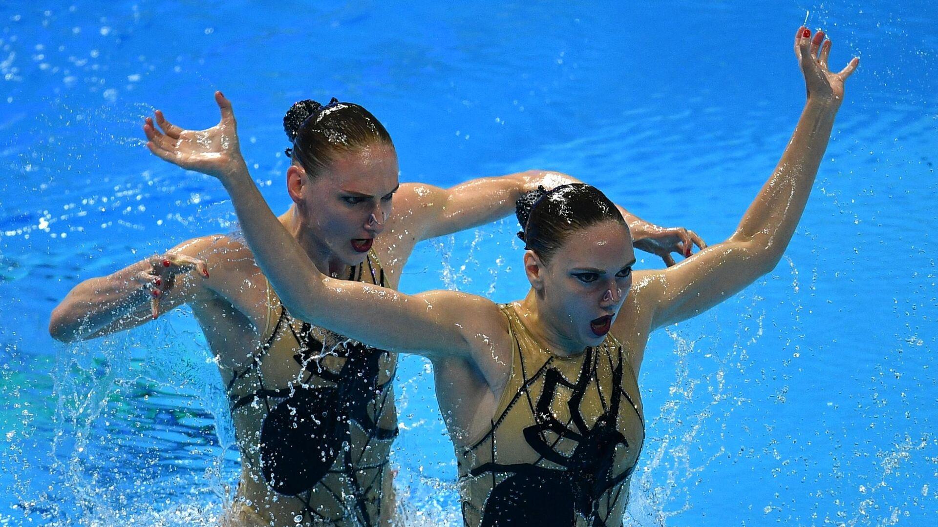 Чемпионат мира FINA 2019. Синхронное плавание. Дуэт. Произвольная программа - РИА Новости, 1920, 16.04.2021