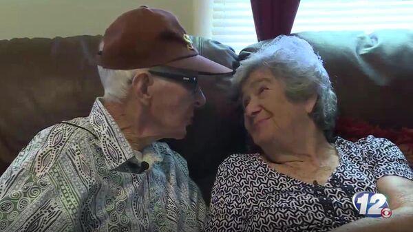 Скриншот видео интервью с супругами Гербертом Делайглом и Мэрилин