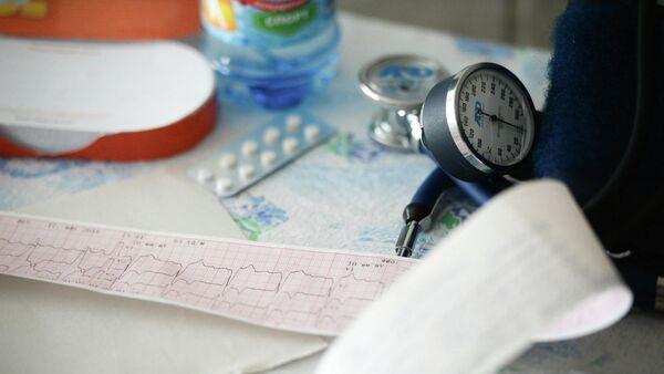 Данные кардиограммы пациента в сельской больнице