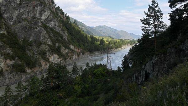 Река Катунь в Чемальском районе Республики Алтай