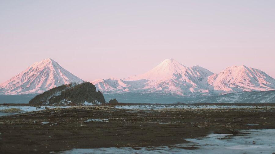 Закат зимой на Камчатке