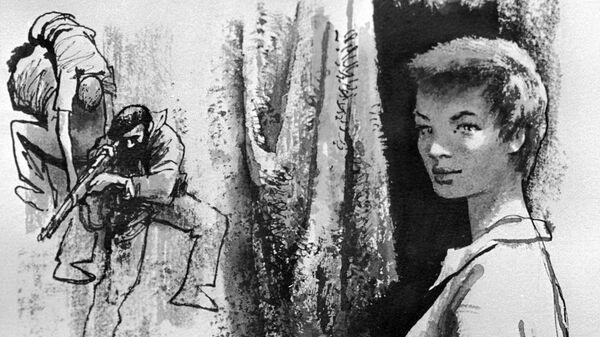 Репродукция иллюстрации художника Ореста Верейского к роману Эрнеста Хэмингуэя По ком звонит колокол