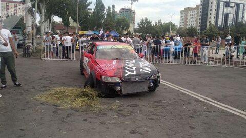 Чемпионат по дрифту в Бишкеке остановлен из-за несчастного случая