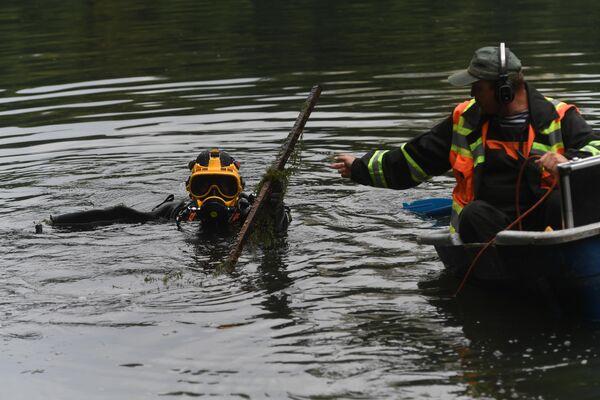 Водолазное обследование Патриаршего пруда