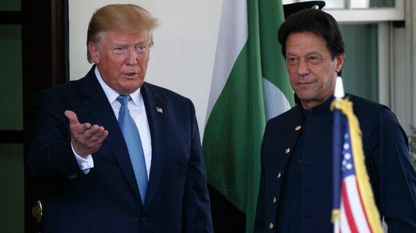 Президент США Дональд Трамп и премьер-министр Пакистана Имран Хан во время встречи в Белом доме. 22 июля 2019