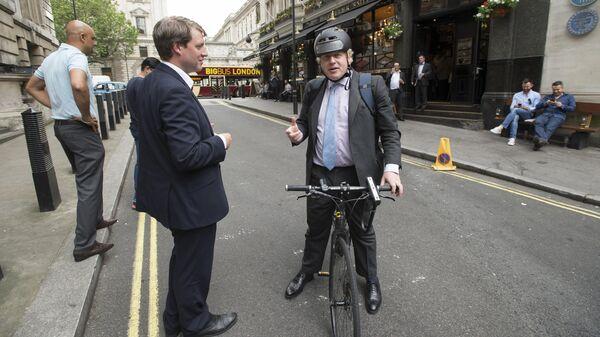 Бывший мэр Лондона Борис Джонсон. 7 июня 2016