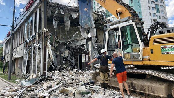 Демонтаж незаконного строения на юго-востоке Москвы