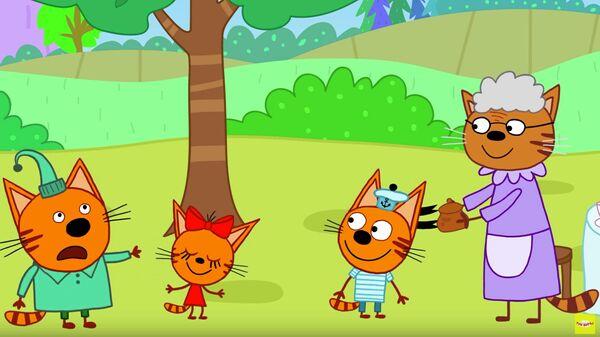 Кадр из мультсериала Три кота