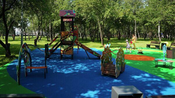 Благоустройство парка Яблоневый сад по программе Мой район в Бирюлево Западное