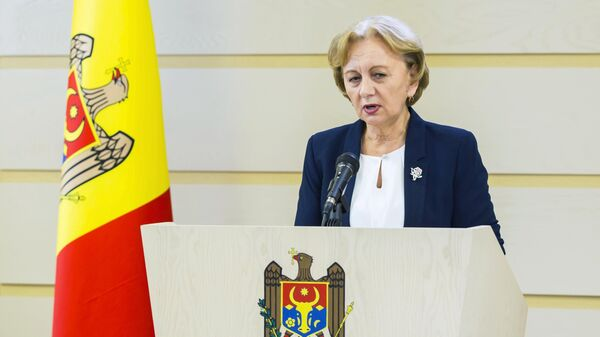 Председатель парламента Молдавии Зинаида Гречаный выступает в парламенте Молдавии в Кишиневе