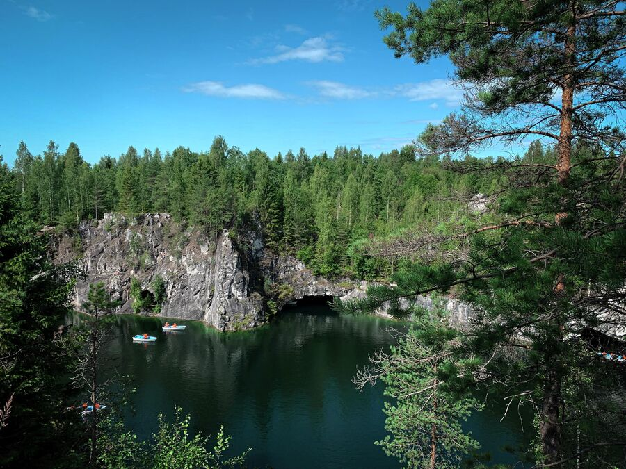 Карелия. Горный парк Рускеала