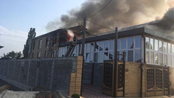 Пожар в цехе по производству шуб в Пятигорске. 29 июля 2019
