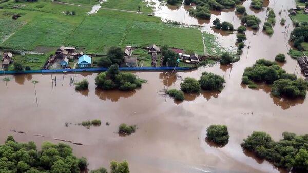 Подтопленные дома в Амурской области
