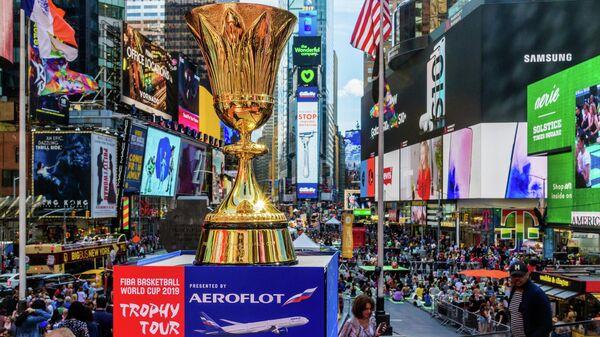 Кубок ЧМ по баскетболу-2019 доставили в Москву из Токио рейсом Аэрофлота