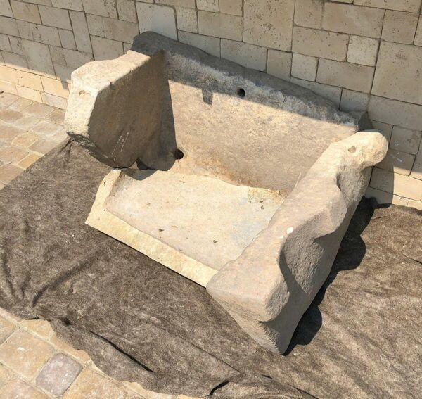 Фрагмент мраморной купели V-VI века. Фанагория