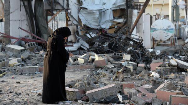 Разрушения в Наджране после ракетного удара