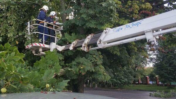 Устранение последствий сильного дождя в Ростове-на-Дону