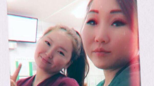 Медсестры Сайыына Слепцова и  Марианна Григорьева, спасавшие утопающего мужчину