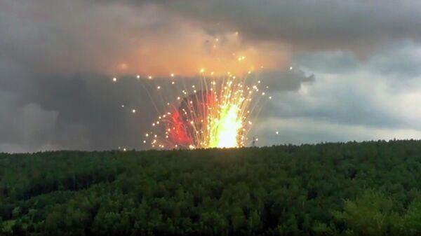 В Ачинске отменили режим ЧС, введенный после взрывов на военном складе