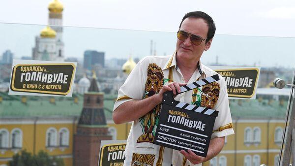 Режиссер Квентин Тарантино во время фотоколла на крыше отеля The Ritz Carlton Moscow в Москве
