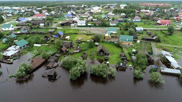 Паводок на реке Ляпин в сельском поселении Саранпауль Березовского района Югры