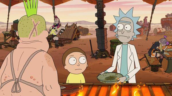 Кадр из мультсериала Рик и Морти