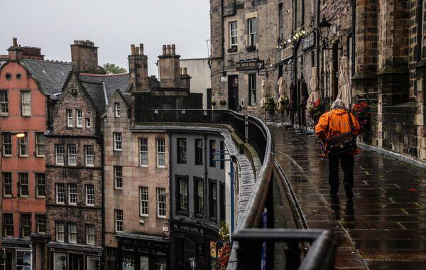 Вид на Виктория стрит в Эдинбурге