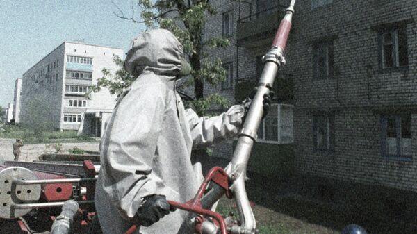 Дезактивация жилых зданий в городе Чернобыле после аварии
