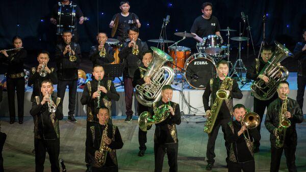 Духовой оркестр из Тувы
