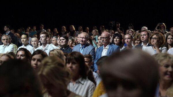 Президент РФ В. Путин посетил открытие фестиваля Опера в Херсонесе