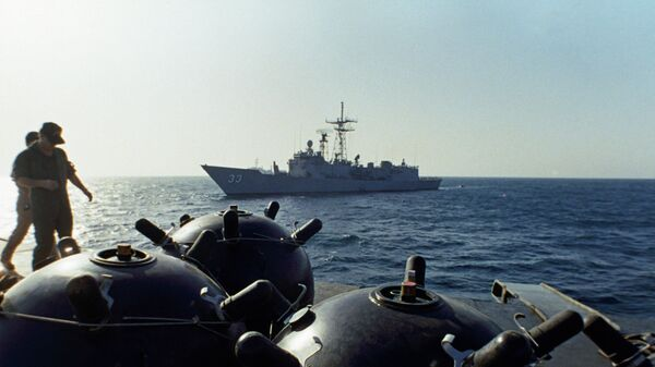 Мины на борту корабль Iran Ajr