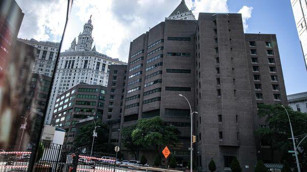 Здание исправительного центра в Нью-Йорке, в котором содержался финансист Джеффри Эпштейн