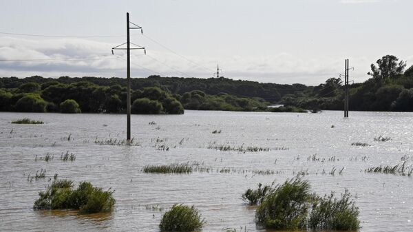 Последствия тайфуна Кроса в Приморском крае. Паводок в районе Уссурийска. 17 августа 2019