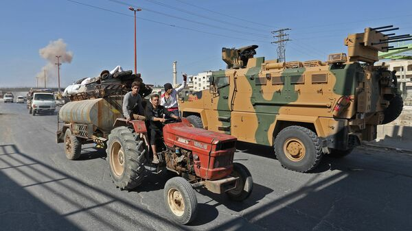 Турецкая военная техника в провинции Идлиб в Сирии