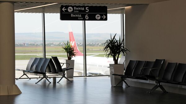 Зал ожидания аэропорта Гагарин в Саратовской области